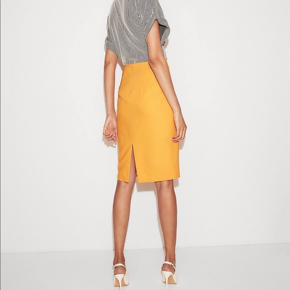 38a96c934 Express Skirts | High Waisted Clean Front Pencil Skirt | Poshmark